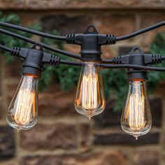 Vintage edison bulb outdoor string lights outdoor string 20 stunning rustic edison bulbs wedding decor ideas string lightingstring mozeypictures Choice Image