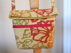 The RYLIE Mini FoldOver Hip Bagin Fiesta Floral by ItsSewDarnCute, $17.50