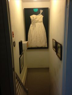 michaels framed my wedding dress in a custom shadow box i waited until they had