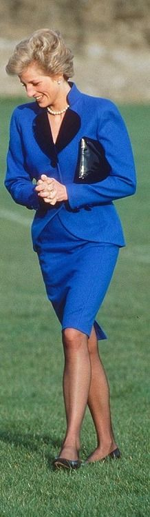 March 9, 1990: Princess Diana arriving for the opening of Abbeyfield House, Youlgreave, Derbyshire, in aid of the Abbeyfield Society