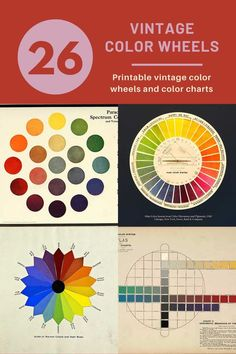 Amazing Free Vintage Color Wheel Posters And Charts - Picture Box Blue Munsell Color System, Tertiary Color, Colour Pallette, Palette, Three Primary Colors, Picture Boxes, Color Psychology, Retro Color, Retro Pattern