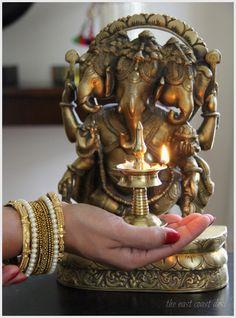 the east coast desi: Ganesh Chaturthi Wishes Shri Ganesh Images, Ganesha Pictures, Brass Diyas, Shree Ganesh, Lord Vishnu Wallpapers, Diwali Decorations, House Decorations, Pooja Rooms, Hindu Deities