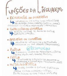 """355 curtidas, 2 comentários - Eduardo (@resumoedu) no Instagram: """"Funções da linguagem #smmPOR resumo feito na aula do @portuguescomjohn"""""""