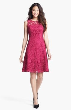 Adrianna Papell Lace Fit & Flare Dress available at #Nordstrom $138