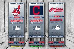 Invitación de los indios de Cleveland equipo de indios de