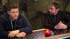 """SPN's Mark Sheppard admits Dean is cute, but is he that cute? Mark talks about Crowley and Demon Dean's """"bromance"""""""