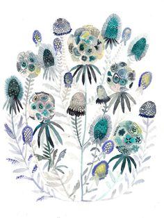Pincushion Flower  - Original painting