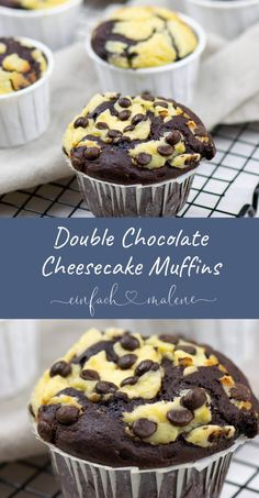 The Double Chocolate Cheesecake Muffins . - The Double Chocolate Cheesecake Muffins taste like Starbuc The Double Chocolate Cheesecake Muffins . - The Double Chocolate Cheesecake Muffins taste like Starbucks - Muffin Recipes, Cookie Recipes, Dessert Recipes, Drink Recipes, Breakfast Recipes, Breakfast Muffins, Paleo Breakfast, Brownie Recipes, Baking Recipes