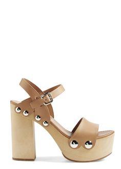 Head over heels for these retro-chic Prada platform sandals.