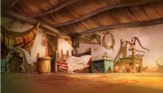 Backgrounds for 2D animation Movie by Juan Francisco Cancelleri, via Behance