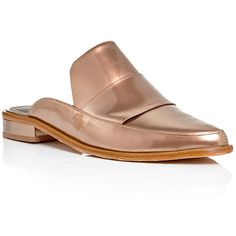 Tibi Bronze Leather Denni Slip On Loafers (€350) ❤ liked on Polyvore featuring shoes, loafers, slipon shoes, slip on loafer, bronze shoes, loafer shoes and loafers & moccasins