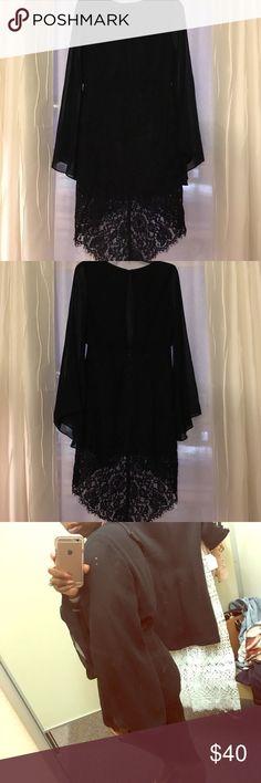 Nordstrom Rack Black Dress Bell Sleeve Black Dress that's perfect for a dressy occasion ✨ Nordstrom Rack  Dresses Asymmetrical