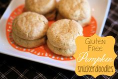 Gluten free pumpkin snickerdoodles- Husband really liked them. I had to make my own flour. I mixed 3 cups rice flour, 1 cup potato starch, 1/2 cup tapioca four and 1 T xantham gum. When i measured it into the cookie dough i sifted it to make a lighter cookie. Carol