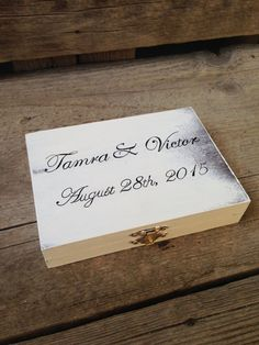 Personalized Ring Bearer Box Rustic Ring Bearer by MoreThanLace