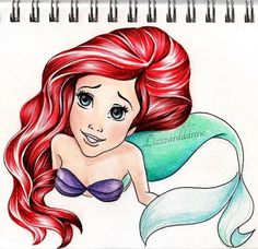 Ariel drawing, disney art