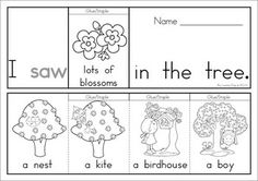 7 Spring Sight Word Flip Books (color and black and white). Includes a recording sheet for each booklet so kids can write their favorite sentences. Great paper saving alternative to traditional readers!