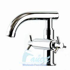 Modern Contemporary Double Handle Bathroom Faucet 5445-Wholesale Faucet