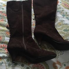 Boots Suede boot never worn Naturalizer Shoes Heeled Boots
