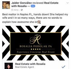 Wow-I'm blessed-Another 5 Star Review#grateful #realestate #naplesfl #naplesflorida #rosaliapodolak #thankful #love #yes #reviews #realtor