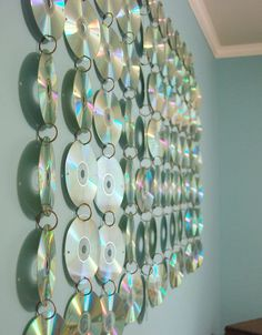 I created a small teen room CD hanging for my minion's room, and since then we've added on to the hanging a few times.