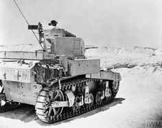 A Stuart tank of the 4th Queen's Own Hussars on patrol in the Western Desert, 10 August 1942.