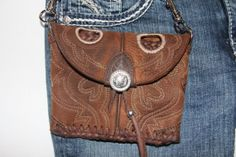 Sassy little Ariat Brown Boot Purse by GriffinsCloset on Etsy, $60.00