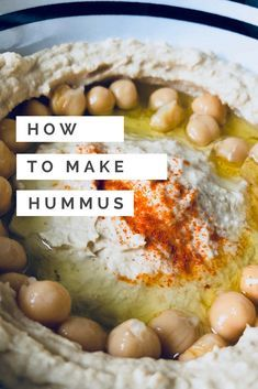 How to make hummus creamy and without blender