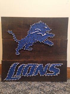 Detroit Lions String Art