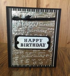 Simple Man's birthday card.
