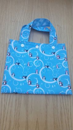 Penguin Tote Bag and Crayon Roll - Christmas gift idea - Hanukkah gift idea - toddler gift idea - handmade Christmas gift - gift under 20 - pinned by pin4etsy.com
