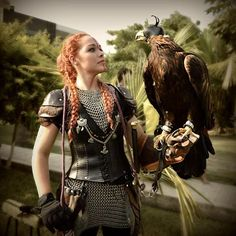 17 pounds of royal eagle. Is beauty! She is a rescue of Imperio Aguila. #theredshieldmaiden #royaleagle #falconry #eagle #bird #awesome #strong #warrior #barbarian #viking #pagan #redhead #girl