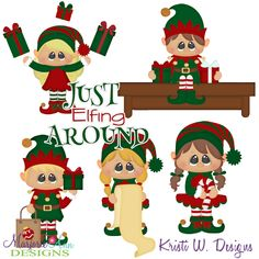 Just Elfing Around SVG-MTC-PNG plus JPG Cut Out Sheet(s) Our sets also include clipart in these formats: PNG & JPG