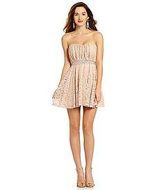 Sequin Hearts Foil Lace Dress #Dillards