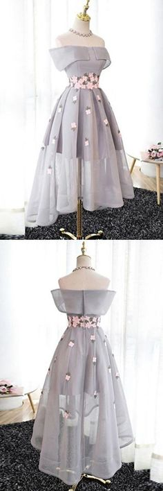 Homecoming Dresses High Low #HomecomingDressesHighLow, Grey Homecoming Dresses #GreyHomecomingDresses, Custom Homecoming Dresses #CustomHomecomingDresses