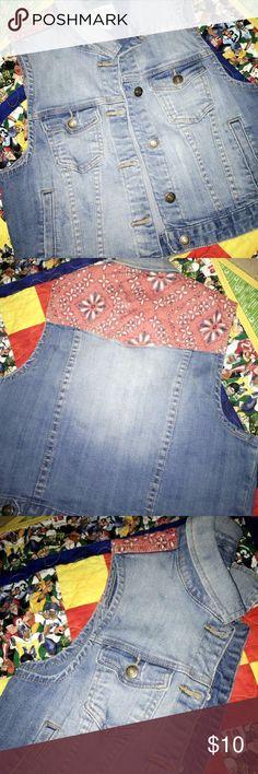 Forever 21 - Blue Jean Bandana Jacket ❤️ Jacket - Blue Jean - Bandana Forever 21 Jackets & Coats Jean Jackets