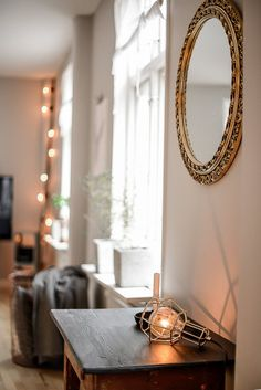 Living room: Work Lamp Gold designed by Form Us With Love for Design House Stockholm.