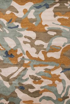 'Camo Fatigues' is woven in silk and wool and was designed in collaboration with Andy Goldsborough.