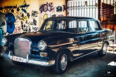Old Mercedes by stavrosmarmaras Mercedes Benz 200, Old Mercedes, Urban Photography, Old Cars, Antique Cars, Vehicles, Model, Street, Pictures