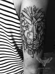 Tattoo - Animal - Lion - Dotwork - Geometric