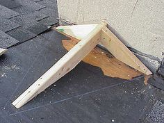 How to make a cricket for a chimney saddle