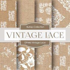 Vintage Lace Digital Paper DP446 - Digital Paper Shop - 1