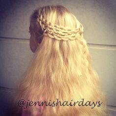 Woven 4-strand braids by Jenni's Hairdays Yhteenpunotut 4-osioletit