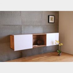 Use this wall mounted shelf as a console table or side table in a hallway. works great