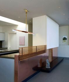 more gorgeous reflections! but all that copper would be a pain to keep from developing a patina! Nice effect of an open kitchen without a bar - although if the screen on top was foldable, you could have it transform into one. tiburon house