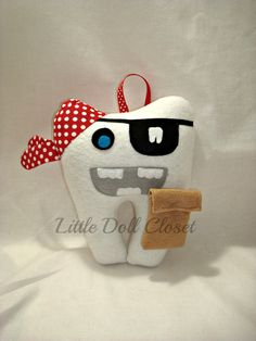 "OMG!! This ""Pirate"" Tooth Fairy Pillow is so adorable for little ""teeth"" treasure."
