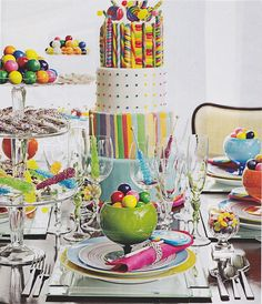 Dylan's candy bar tabletop spread - Ralph Laurens daughter.