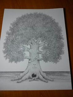 """11""""x 14"""" Hand Drawn Family Tree"""