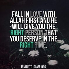 Fall in LOVE with Allah. *I invite you to Islam. Allah Quotes, Muslim Quotes, Quran Quotes, Me Quotes, Quran Sayings, Qoutes, Hadith Quotes, Beautiful Islamic Quotes, Islamic Inspirational Quotes