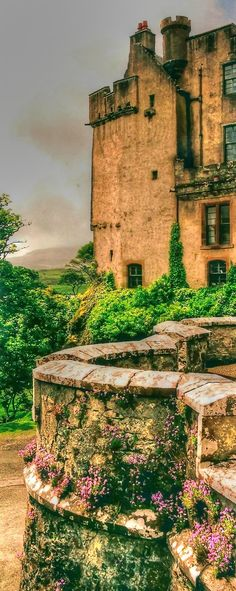 Dunvegan Castle on Isle of Skye, Scotland  Oldest Continuously inhabited castle in Scotland and home of Clan Macleod.
