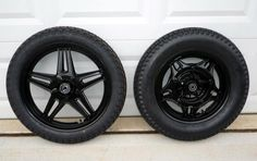 Tire ideas - Dunlop K70 (19 X 3.50) on front and an Avon Safety Mileage II (16 X 5.00) on the rear